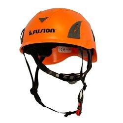 Fusion Climbing Fusion Climb Meka II Climbing Bungee Zipline Mountain Construction Safety Protection Helmet Orange
