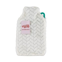 Hot Water Bottle With Cover 2L - Cream
