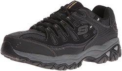 Skechers Sport Men's Afterburn Memory Foam Lace-up Sneaker Black 13 4E Us