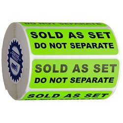 """Kenco Sold As A Set Do Not Separate Labels Stickers By 3"""" X 1"""" Fluorescent Green Fba Labels Shipping Labels 2 Pack 1000"""