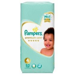 Pampers Premium Value Pack Maxi 52'S