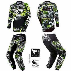 O'neal Kids youth Element Attack Hi-viz Motocross Mx Off-road Dirt Bike Jersey Pants Combo Riding Gear Set Pants 5 6 22 Jersey