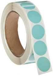 """Roll Products, Inc Roll Products 119-0004 Adhesive Dot Label 1"""" Diameter For Inventory And Marking Violet Roll Of 1000"""