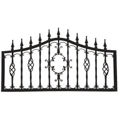 Mr. Chain Orleans Collection Fencing Midnight Black 24-INCH Decorative Lawn Fencing Or Wall Art 5-PACK