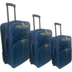 MARCO Soft Case Luggage Set Blue grey