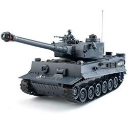 Eahumm 1:28 Rc WW2 German Tiger Army Tank Toys 9 Chanels Romote Control Vehicles With Sound And Light Military Toys For Kids Boy