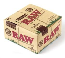 Raw Connoisseur Size King Size Unrefined Organic Hemp Rolling Papers + Tips - 1 Box