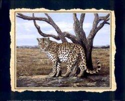 Spotted Leopard Paper Tole 3D Kit 8X10