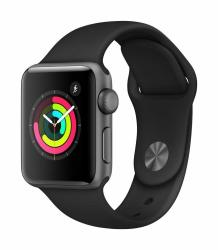 Apple Watch Series 3 Gps 38MM - Space Gray Aluminium Case With Black Sport Band