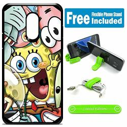 Limited Editions For LG Aristo Aristo 2 Aristo 2 Plus Tribute Dynasty Hybrid Rugged Hard Cover Case - Spongebob Friends
