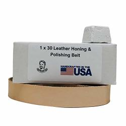 1 X 30 Inch Leather Honing & Polishing Belt With Buffing Compound