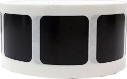 InStockLabels.com Black Square Stickers 1 Inch In Size 500 Labels On A Roll