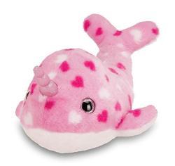 USA Bearington Wally B Mine Valentines Plush Stuffed Animal Narwhal With Hearts 12 Inches