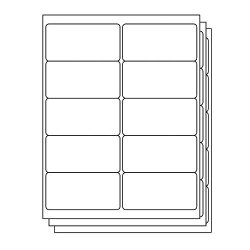 Officesmartlabels Rectangular 4 X 2 Shipping mailing Labels For Laser & Inkjet Printers 4 X 2 Inch 10 Per Sheet White 1000 Labels 100 Sheets