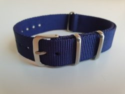 NATO 18MM Watch Strap Navy Blue