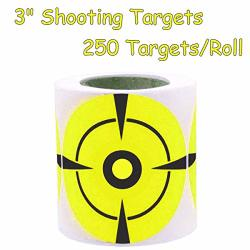 Besttile Target Stickers Shooting Bullseye Sticker 3 Inch Self Adhesive Target Pasters For Bb Pellet Pistols Airsoft Guns Fluore
