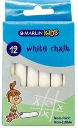 Marlin Kids White Chalk Pack Of 12 Non-toxic Non Edible Allows For Smooth Drawing And Writing On Chalk Board Retail Packaging No Warranty