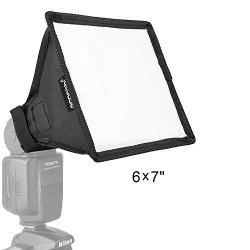 Oumij Flash Diffuser Reflector,Foldable Flash Diffuser Softbox Speedlite,Photography Reflector,Small /& Collapsible,White Reflector for Speedlite
