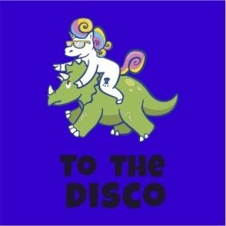 Unicorn To The Disco Women's Royal Blue T-Shirt Small