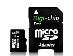 Digi-Chip High Speed 16GB UHS-1 Class 10 Micro-sd Memory Card For Blackberry Z30 Blackberry Leap Blackberry Classic And Blackberry Passport Smartphones
