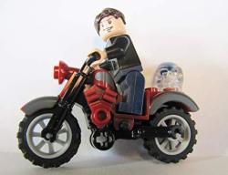 Lego Indiana Jones Mutt Williams Minifigure Red Classic Motorcycle & Skull Kingdom Of The Crystal Skull