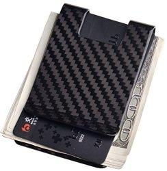 Carbon Fiber Money Clip-credit Card Holder Cl Life Rfid Glossy Clips For Men 3K