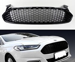 MotorFansClub Chrome Front Bumper Grille Insert for 2015 2016 Ford Focus Mesh Honeycomb Type