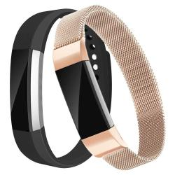 Fitbit Alta HR And Alta Band 2 Pack Small large Replacemen    - Black+rose  Gold SMALL:5 5-6 7 | R | Smart Watches | PriceCheck SA