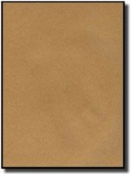 """Label Outfitters 20 8.5"""" X 11"""" Full Sheet Recycled Brown Kraft Labels - 20 Sheets"""