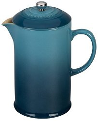 Le Creuset Stoneware 27OZ. French Press Marine