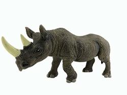 AGG Giftexpress 12 Jumbo Realistic Looking Rhino Toy - Vinyl Safari Zoo Animal Rhino Figure Educational Gift And Party Favors To