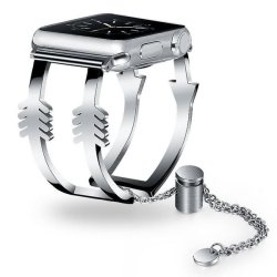 42MM 44MM Stainless Steel Bangle Silver Apple Watch - Arrows