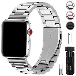 Fullmosa Compatible Apple Watch Band 42MM 44MM 38MM 40MM Stainless Steel Metal For Iwatch Bands 42MM 44MM Silver