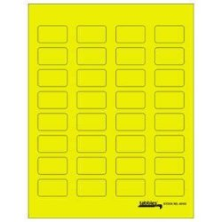 "1-1 2""W X 7 8""H Fluorescent Yellow Labels-u-create Blank Label Packs Laser inkjet Label Sheets 320 PACK - TBBS-40103"