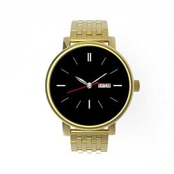 Water Eziixbluetooth Resistant Touchscreen Smart Watchfor Ios Andandroidwith Stainless Steel Cas