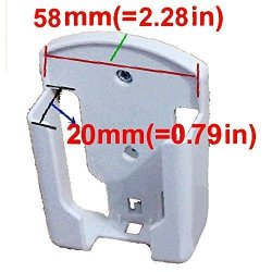 Generic DVD Air Conditioner Wall Mount Remote Control Holder Wall Mounted 58MM 20MM 2.28IN 0.79IN ------ D