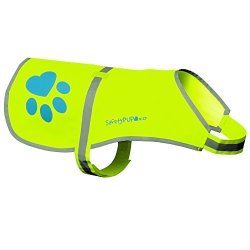SafetyPUP XD Dog Reflective Vest Sizes To Fit Dogs 14 Lbs To 130 Lbs - Hi Vis Safety Vest Keeps Dogs Visible On And