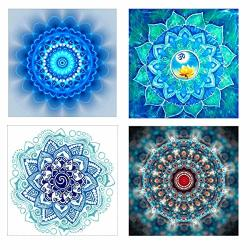 """Hengq Diamond Painting For Adult Or Kid 5D Diy Full Drill Diamond Painting Sets Diamond Painting By Number 4PACK Set 10""""X10"""""""