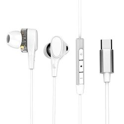 Layopo USB Type-c Earphones Quad-core Noise Cancelling Hifi Wired Earphones With 4 Speakers In-ear Headphones For Huawei P20 P20 PRO MATE20 Pro xiaomi 6 MIX2S