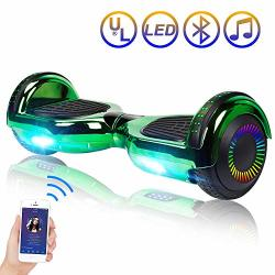 TOMOLOO Hoverboard Bluetooth LED Lights Two-wheel Self Balancing Scooter UL2272 Certified 6.5 Wheel Electric Scooter Kids Adult