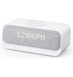 Anker Soundcore Wakey Bluetooth Speaker With Alarm Clock radio white Noise wireless Charger White