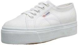 Superga 2790 Linea Up Down Unisex Adults' Low-top Sneakers White 901 White 6 UK 39.5 Eu
