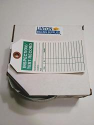 "Inspection test Record Tag With Fiber Patch Polyolefin Tag 100 Tags box 3"" X 6.25"