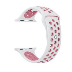 White And Pink 42MM M l Nike Style Strap Band For Apple Watch