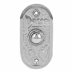 """Wired Brass Doorbell Chime Push Button In Polished Nickel Finish Vintage Decorative Door Bell With Easy Installation 3 1 8"""" X 1 1 2"""