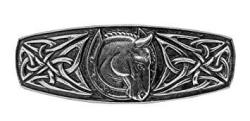Oberon Design Woven Celtic Hair Clip - Hand Crafted Metal Barrette Made In The Usa With Imported French Clips By