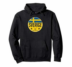 Sweden Ice Hockey Flag Jersey Supporter Sverige Fan Gift Pullover Hoodie