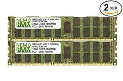 64GB 2X32GB DDR3-1600MHZ PC3-12800 Ecc Rdimm 4RX4 1.5V Registered Memory For Server workstation
