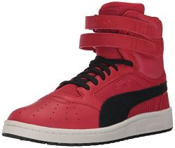 Puma Men's Sky II Hi Color Blocked Lthr Sneaker Toreador Black 7 M Us
