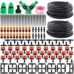 "Drip Irrigation Kit 30M Adjustable Micro Diy Garden Automatic Drip Irrigation Kit Plant Water Saving System 1 4"" Heavy Duty Tube"